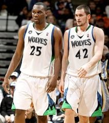Al Jefferson and Kevin Love